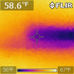 Roof  leak  found with infrared camera