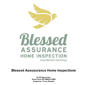 Blessed Assurance Home Inspection, Sample Inspection Report